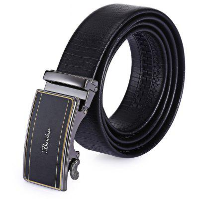 Male Genuine Leather Automatic Alloy Buckle Trouser Belt