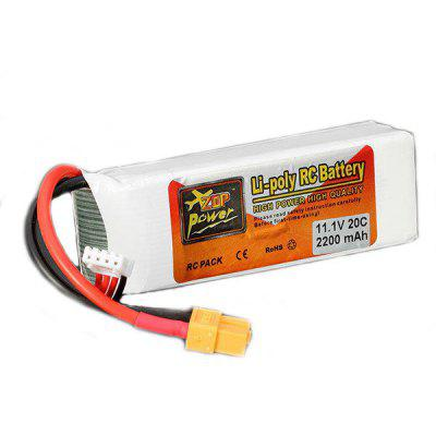 Buy COLORMIX ZOP Power 11.1V 2200mAh 20C XT60 Plug LiPo Battery for $13.99 in GearBest store