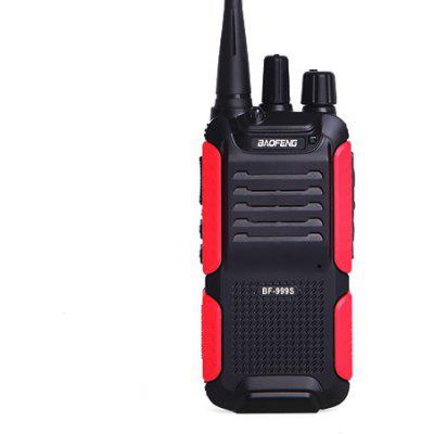 BAOFENG 999S Portable Wireless Handheld Walkie Talkie - US BLACK AND RED