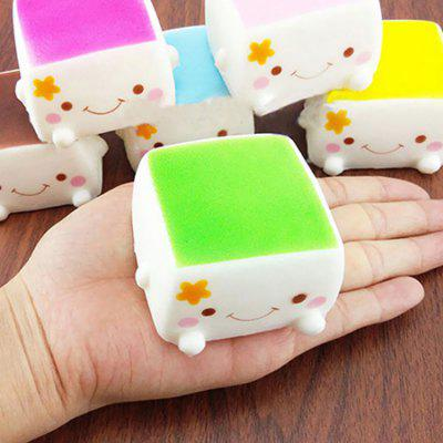Sanding Block with lovely Expression Squishy Toy 1PC