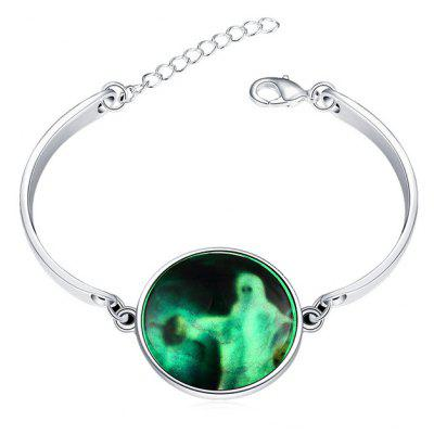 Copper Plated Silver Halloween Ghost Luminous Women Bracelet