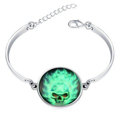 Copper Plated Silver Halloween Energy Burst Luminous Women Bracelet