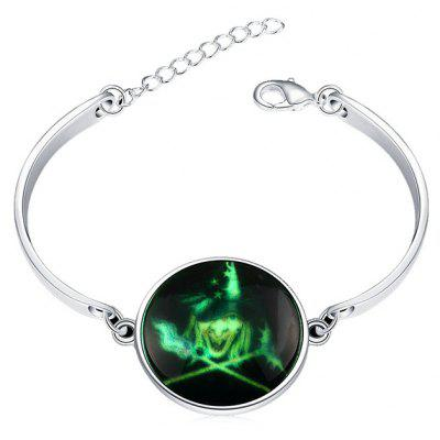 Copper Plated Silver Halloween Witch Luminous Women Bracelet