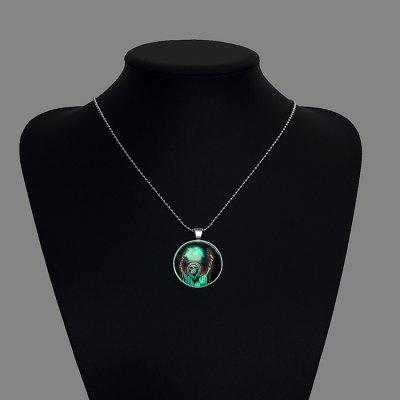 Copper Plated Silver Luminous Women Necklace