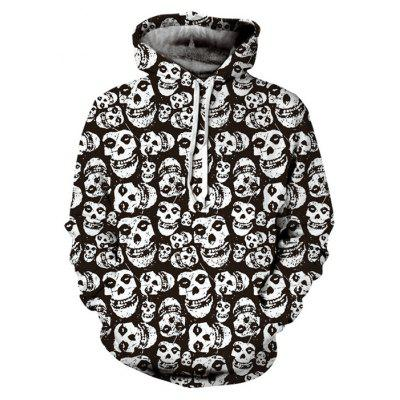 Skeletons Printing Graphic Hoodies Moletom com capuz