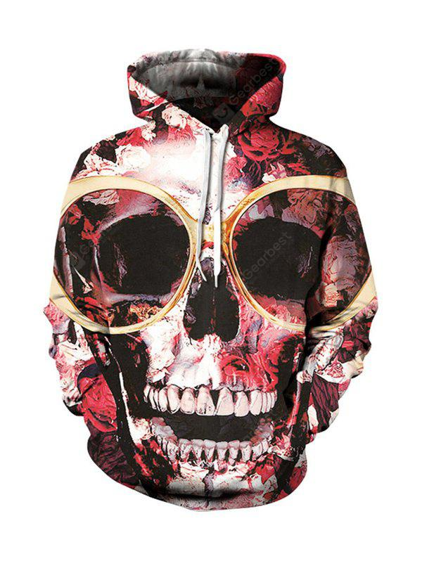 Skeleton Printing Graphic Hoodies Moletom com capuz