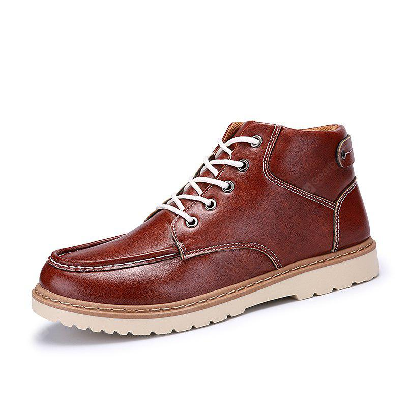 Hombres Elegante Costura Casual Lace-up Botas Ankle