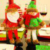 Snowman Santa Claus Ornaments Wine Bottle Cover - RED