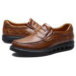 Masculino Business Respirável Higher Soled Casual Leather Shoes - MARROM CLARO