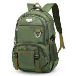 Men Trendy Large Capacity resistente à água Laptop Backpack - VERDE