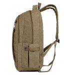 Hombres Elegante Durable Multifuncional Canvas Backpack - CAQUI