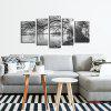 JOY ART Stretched Black and White  Landscape Canvas Print - BLACK+WHITE