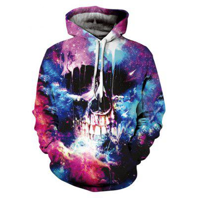 Male Oversized 3D Printing Halloween Hoodie Sweatshirt