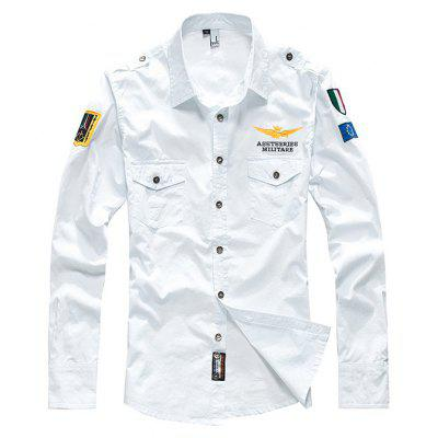 Buy WHITE XL Chic Long Sleeves Casual Shirt for Men for $27.23 in GearBest store