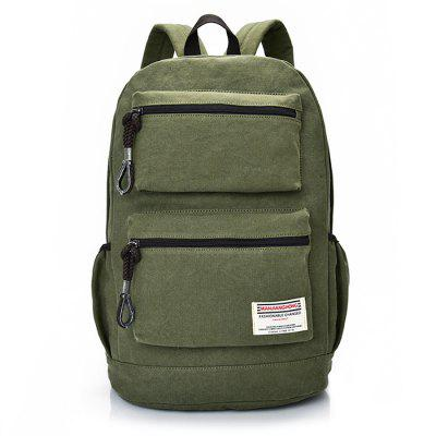 Buy ARMY GREEN Men Fashion Solid Color Thickened Canvas Backpack for $31.69 in GearBest store