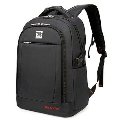 Buy BLACK Men Multifunctional Water-resistant Nylon Laptop Backpack for $48.32 in GearBest store