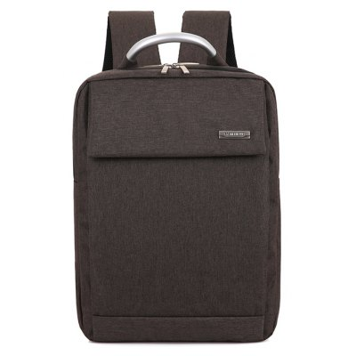 Buy BROWN Men Trendy Solid Color Thickened Canvas Backpack for $28.69 in GearBest store