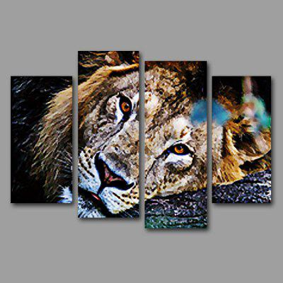 Buy COLORMIX Lying Tiger Print Unframed Decorative Canvas Painting 4PCS for $17.43 in GearBest store
