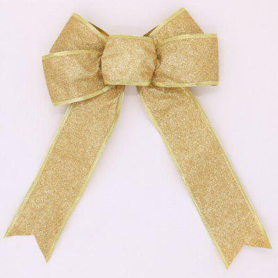 Buy GOLDEN Christmas Decorative Charming Ribbon Bowknot for $1.16 in GearBest store