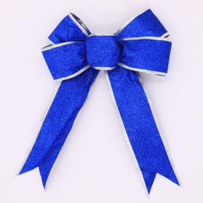 Buy BLUE Christmas Decorative Charming Ribbon Bowknot for $1.16 in GearBest store