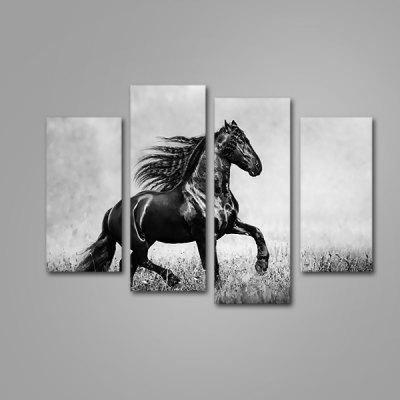 God Painting Running Horse Print Modern Canvas Artwork 4PCS