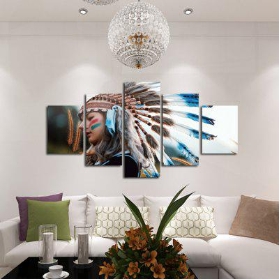 Buy COLORMIX God Painting Unframed Canvas Prints Indian Wall Art 5PCS for $18.04 in GearBest store