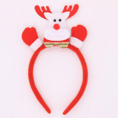 Buy RED Christmas Ornaments Luminous Headband for Party for $1.69 in GearBest store