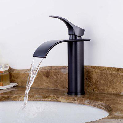Buy BLACK LING HAO HL 275 Waterfall One Hole Sink Faucet for $64.84 in GearBest store