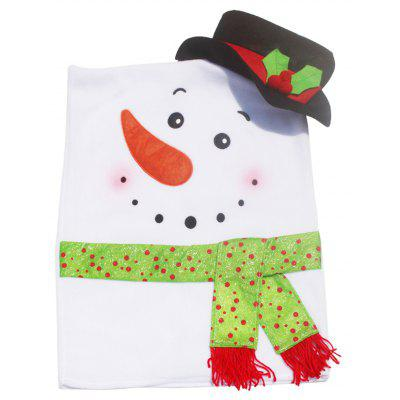 Buy WHITE AND BLACK Christmas Snowman Shape Seat Cover for $11.60 in GearBest store
