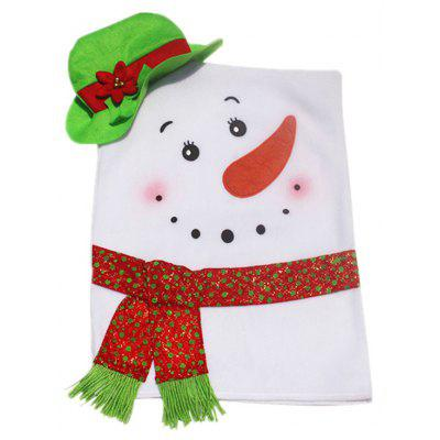 Buy WHITE AND GREEN Christmas Snowman Shape Seat Cover for $11.60 in GearBest store