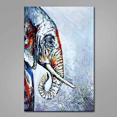 Buy COLORMIX Mintura Modern Abstract Elephant Hand Painted Oil Painting for $52.36 in GearBest store