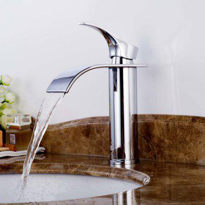 Straight Tube Plating Basin Faucet