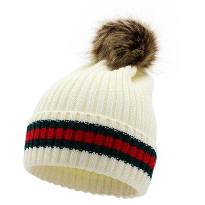 Warm Striped Venonat Decorated Ladies Knitted Hat