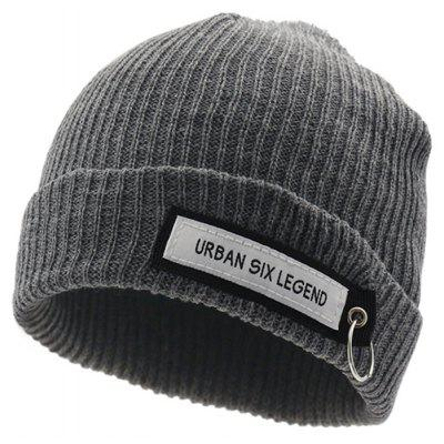Unisex Letter Words Printed Beanie Knitted Hat