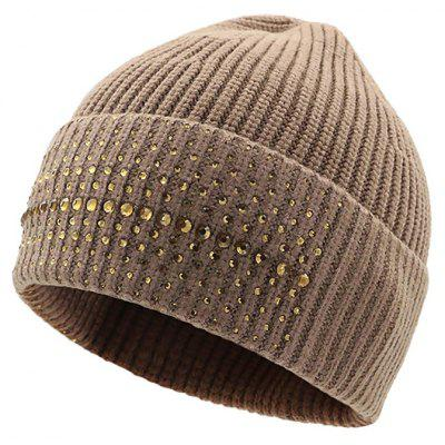 Warm Daily Beanie Hat with Foldover Cuff
