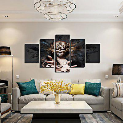 Modern Lady with Mask Print Decorative Canvas Artwork 5PCSPainting<br>Modern Lady with Mask Print Decorative Canvas Artwork 5PCS<br><br>Craft: Print<br>Form: Five Panels<br>Material: Canvas<br>Package Contents: 5 x Print<br>Package size (L x W x H): 42.00 x 6.00 x 6.00 cm / 16.54 x 2.36 x 2.36 inches<br>Package weight: 0.4000 kg<br>Painting: Without Inner Frame<br>Product weight: 0.3600 kg<br>Shape: Horizontal Panoramic<br>Style: Modern, Sexy, Beautiful<br>Subjects: People<br>Suitable Space: Bedroom,Cafes,Dining Room,Hallway,Hotel,Living Room