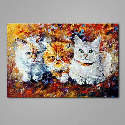 Mintura Animal Cat Hand Painted Oil Painting