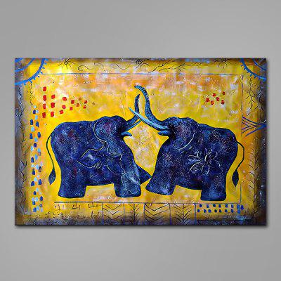 Mintura Elephants Hand Painted Oil Painting