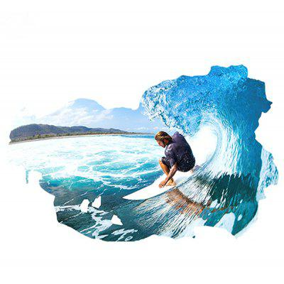 LAIMA 3D Effect Surfing Room Scene Wall Sticker