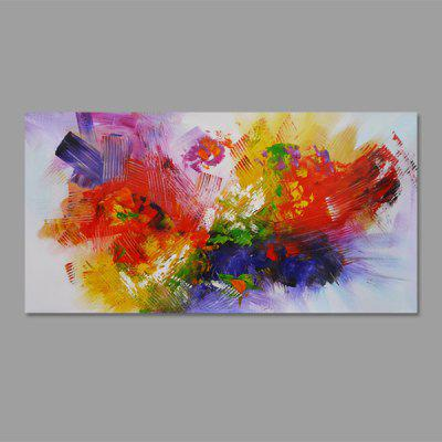NO1 Stetched Hand-painted Abstract Colorful Oil Painting