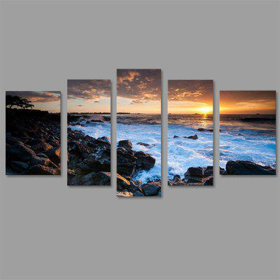 Buy COLORMIX JOY ART Sunset Seascape Canvas Art for Wall Decoration 5PCS for $52.10 in GearBest store