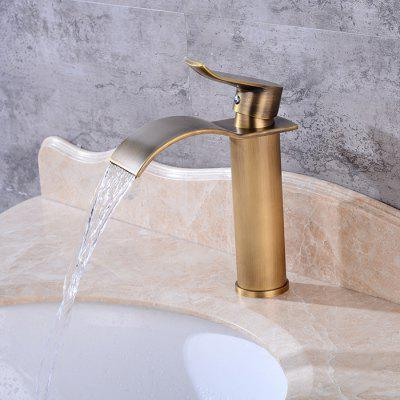 LING HAO HL - 270 Waterfall One Hole Sink FaucetFaucets<br>LING HAO HL - 270 Waterfall One Hole Sink Faucet<br><br>Battery Included: No<br>Body Sprays Included: No<br>Brand: LINGHAO<br>Cold and Hot Switch: Yes<br>Drain Included: Yes<br>Faucet Body Material: Brass<br>Faucet center: Single Hole<br>Faucet Features: Easy Install,Easy to use,Fast Heat-up<br>Faucet Spout Material: Brass<br>Faucet Type: Bathroom Sink Faucet<br>Handle Material: Zinc Alloy<br>Handshower Included: No<br>Handshower Material: Brass<br>Installation Hole Diameter ( cm ): 3.2 - 3.5<br>Installation Holes Handles: One Hole<br>Installation Type: Centerset<br>Package Contents: 1 x Pack of Installation Fittings, 2 x Water Inlet Pipe, 1 x English Manual<br>Package size (L x W x H): 37.00 x 18.00 x 8.00 cm / 14.57 x 7.09 x 3.15 inches<br>Package weight: 1.4000 kg<br>Product weight: 1.3000 kg<br>Rain Shower Included: No<br>Rain Shower Material: Brass<br>Shower Arm Included: No<br>Style: Contemporary<br>Valve Included: Yes<br>Valve Type: Ceramic Valve<br>Water Pressure: 12