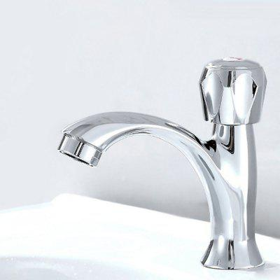 Buy SILVER Yuda Practical Waterfall One Hole Bathroom Sink Faucet for $11.81 in GearBest store