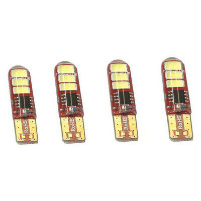 T10 6 LEDs SMD5730 Auto Car Turn Signal Lamp 12V 4pcsCar Lights<br>T10 6 LEDs SMD5730 Auto Car Turn Signal Lamp 12V 4pcs<br><br>Adaptable automobile mode: Universal<br>Apply lamp position: External Lights<br>Chip type: SMD 5730<br>Color temperatures: 6000K<br>Connector: T10<br>LED Quantity: 6<br>Lumens: 600LM<br>Package Contents: 4 x SMD5730 LED Light<br>Package size (L x W x H): 10.00 x 5.50 x 3.50 cm / 3.94 x 2.17 x 1.38 inches<br>Package weight: 0.0180 kg<br>Power: 3W /PC<br>Product size (L x W x H): 3.50 x 1.00 x 1.00 cm / 1.38 x 0.39 x 0.39 inches<br>Product weight: 0.0130 kg<br>Type: Turn Signal Light<br>Type of lamp-house: LED<br>Voltage: 12V/DC