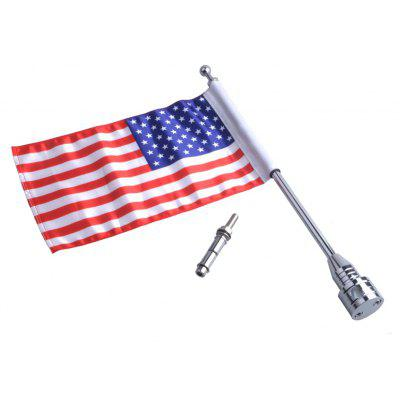 Motorcycle Fashionable Flag Pole with USA Flag for Harley