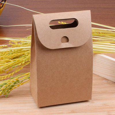 Multipurpose Natural Kraft Paper Cookie Bag with Paster