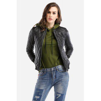 Solid Color Warm Short Cotton-padded Jacket for Women