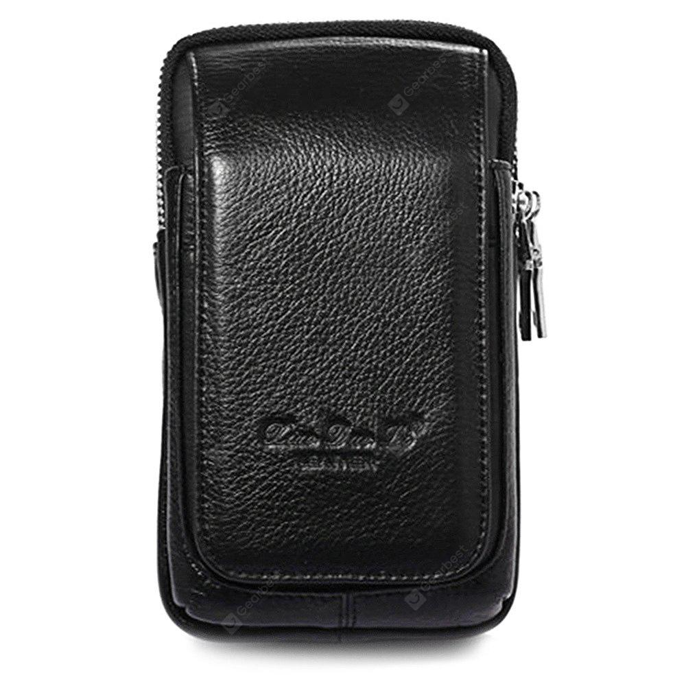 Multifunctional Large Capacity Leather Waist Bag for Men
