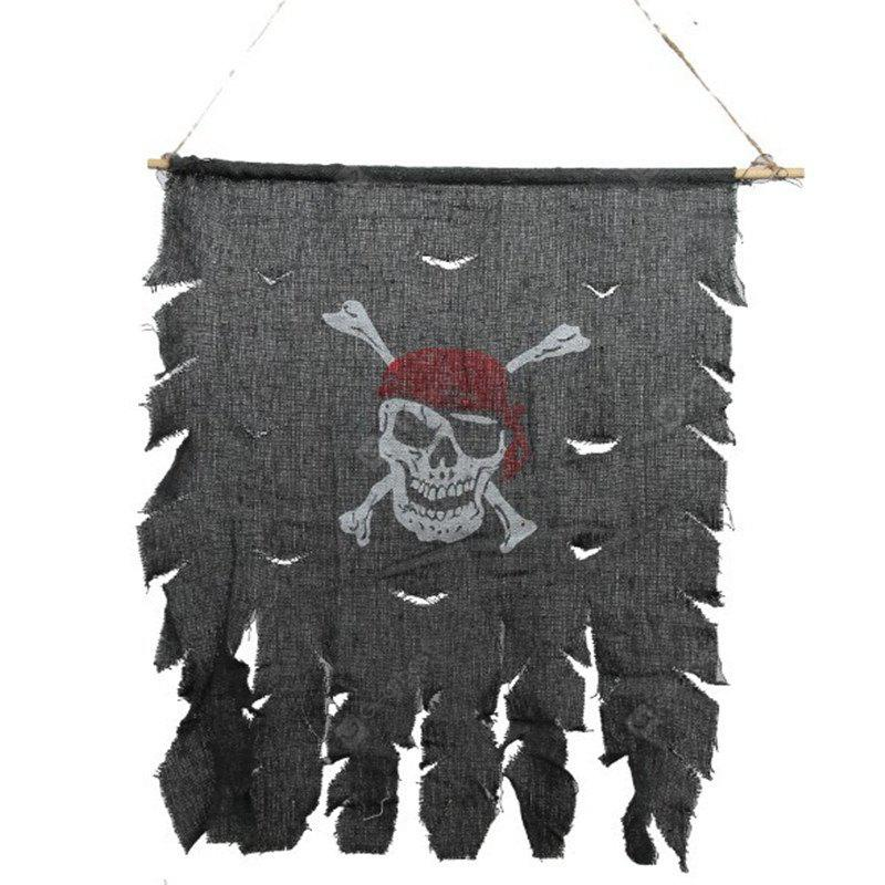 Scary Halloween Costume Pirate Skull Flag