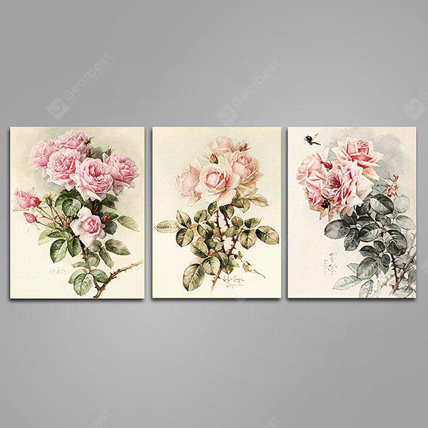 Colourful GWP - 0014 Rose Flowers Inkjet Canvas Print 3PCS